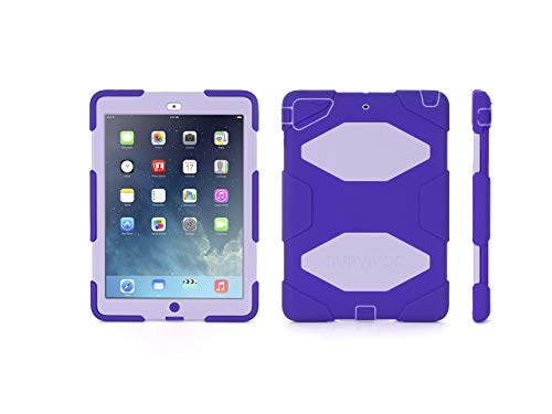 Griffin, iPad Air Rugged Case, Survivor All-Terrain Case + Stand Purple/Lavender