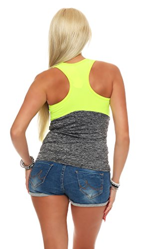 Fashion Design - Camiseta sin mangas - para mujer IL14 gelb