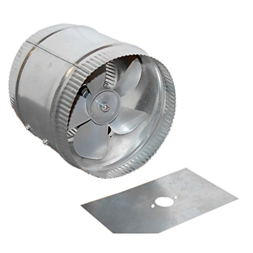 Acme Miami 9014 14 in. Duct Booster – 1290 CFM – Silver