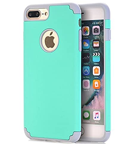 iPhone 7 Plus Case,CaseHQ Extreme Heavy Duty Protective soft rubber TPU PC Bumper Case Anti-Scratch Shockproof Rugged Protection Cover for apple iPhone 7 Plus phone - Diamond Protector Faceplate