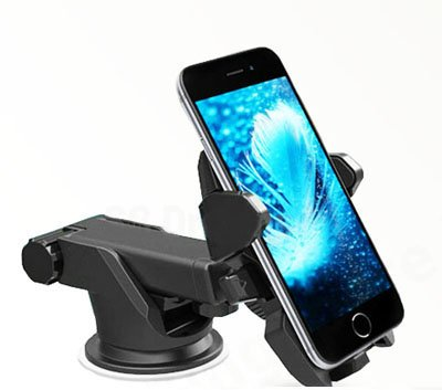 SG Dreamz Versatile One Touch Car mount holder for Phone. Adjustable Cell phone cradle mount with Telescopic Arm for car dashboard or windshield