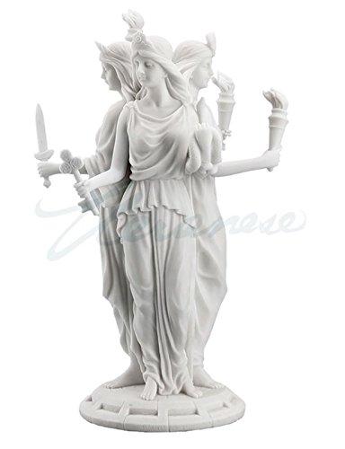 Large Greek Goddess Hecate Triple Goddess Statue Figurine (White) -  Unicorn, WU76641AA