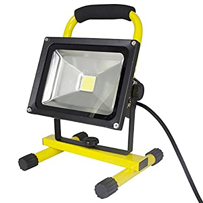 20 Watt LED Portable Worklight Floodlights w/Telescoping Tripod 1900 Lumens, Set of 3