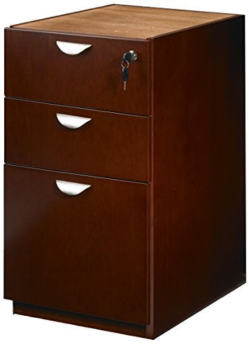 Mayline Mira Series Pedestal Files and Box/Box/File for Credenza/Return Desks, - Mira Wood Box