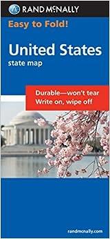 Easy To Fold United States Rand McNally Amazon - Us map fold