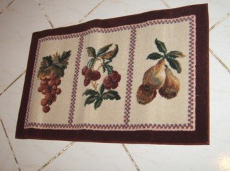 Amazon.com: JC Penney Fruit Majesty Rectangle Rug Garnet: Home U0026 Kitchen