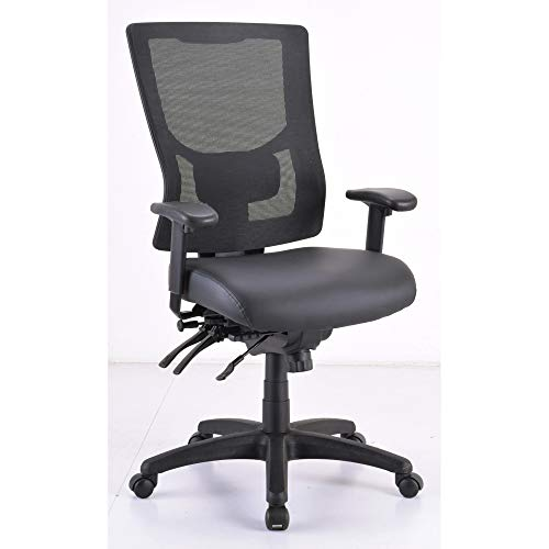 - Lorell LLR62004 Mid/High-Back Padded Leather Chair Seat Black