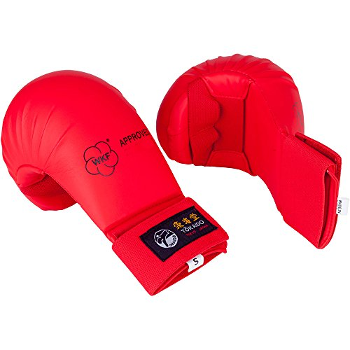 Wkf Karate Mitt - Tokaido WKF Karate Mitt Red (Medium)