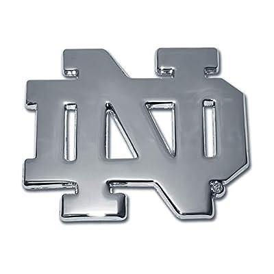 Notre Dame Chrome METAL Auto Emblem (new open design): Automotive