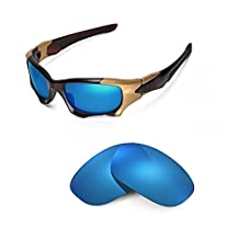 Walleva Replacement Lenses Oakley PIT BOSS II Sunglasses - Multiple options (Ice Blue Coated - Polarized)