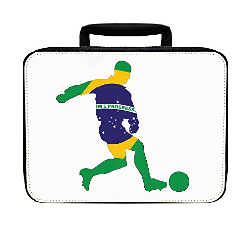 Soccer Player Brazil Insulated Lunch Box Bag by Style in Print
