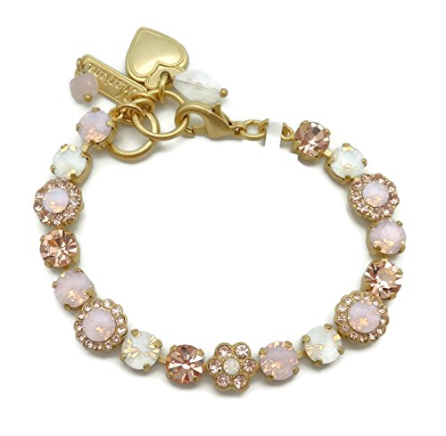 Mariana Gold Plated Rosewater Opalescent & Light Peach Swarovski Crystal Bracelet 2333 Tiara Day