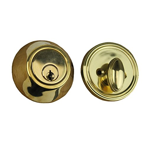 Deadbolt, 2 inch backset, Low Profile - Polished ()