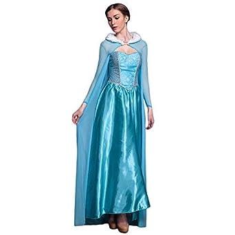 LSERVER Femme Robe Deguisement de Princesse Halloween Fête Cosplay Vetement  Carnaval Costume La Reine Taille Unique cf2da61dde1b