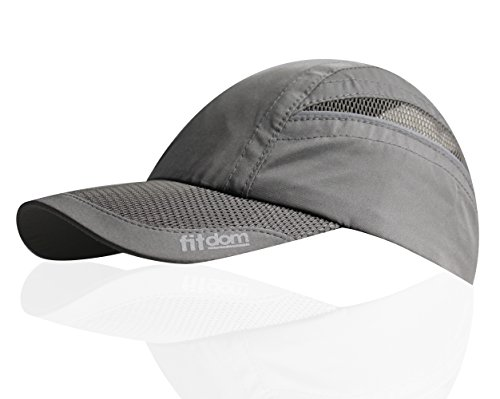 Triathlon Running Hat (Lightweight Sports Cap for Men and Women, One Size Fits All Even with a Ponytail, All Season Performance Hat with Quick Dry Technology for Running, Walking, Hiking, Marathon, Tennis, Golf & More)