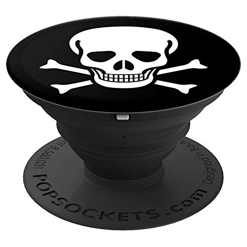 Jolly Roger Skull Crossbones Halloween Pirate - PopSockets Grip and Stand for Phones and Tablets]()