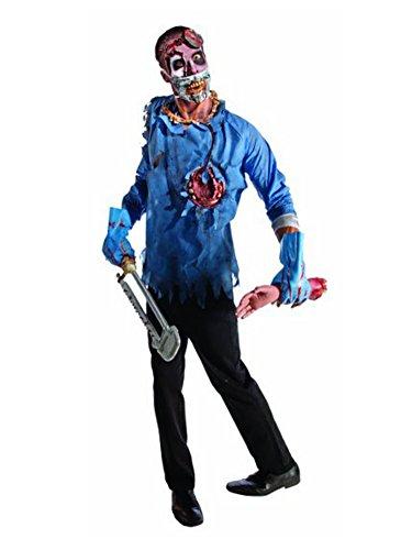 Rubie's Costume Zombie Doctor Costume, Black/Blue, (Zombie Dr Costume)
