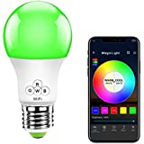 MagicLight WiFi Smart Light Bulb, Dimmable, Multicolor, Wake-Up Lights, No Hub Required, Compatible with Alexa, Google Home, Widget, IFTTT and Siri Shortcut