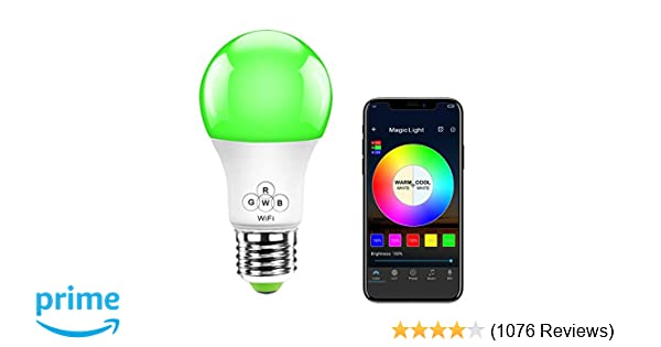 Dot Light Lampen : Magiclight wifi smart light bulb dimmable multicolor wake up