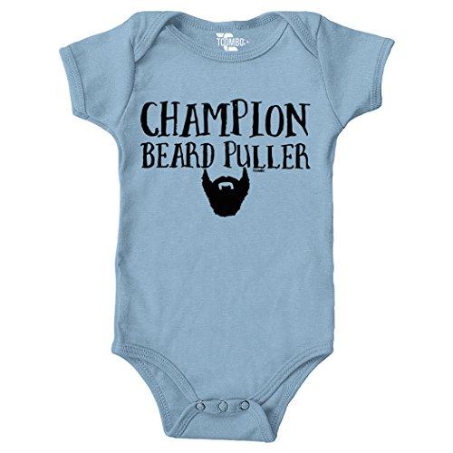 Tcombo Champion Beard Puller Bodysuit (Light Blue, 12 Months)