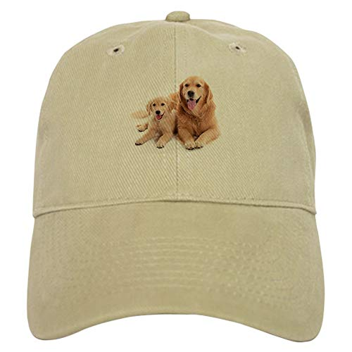 - CafePress Golden Retriever Buddies Baseball Cap with Adjustable Closure, Unique Printed Baseball Hat Khaki