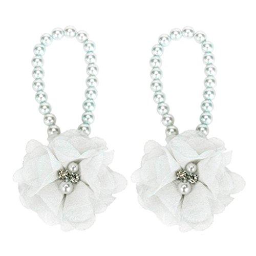 DZT Baby Girl Pearl Chiffon Flower