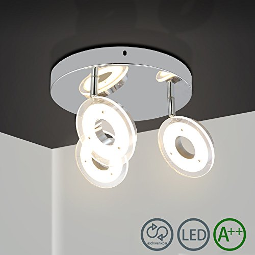 HG® 18W LED Proyectores de techo Lámpara giratoria de 3 llamas Moderno Dormitorio Luz LED Spots Lámpara de sala de estar ajustable Deckenspot Comedor ...