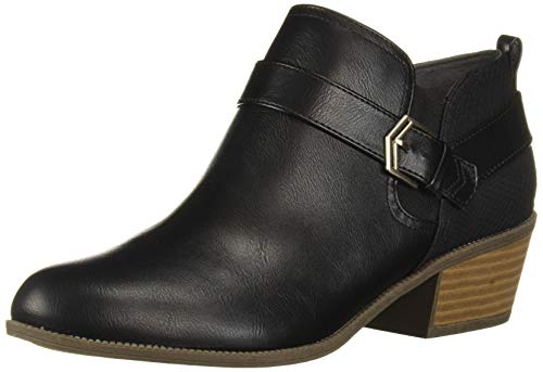 Dr. Scholl's Shoes Women's Bobbi Ankle Boot, Black Smooth, 8 M US