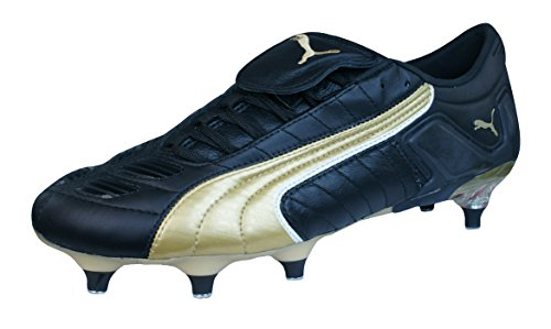 Kangaroo Heels Leather - PUMA V Konstrukt II SG Mens Leather Soccer Boots/Cleats-Black-10.5