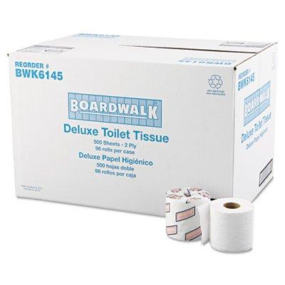 Bathroom Tissue, Standard, 2-Ply, White, 4 x 3 Sheet, 500 Sheets/Roll, 96/Carton, Sold as 2 Carton, 96 Each per Carton