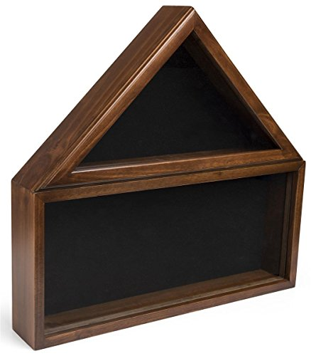Displays2go-Military-Shadow-Box-Solid-Wood-with-Tempered-Glass-Front–Cherry-Finish-FC59MEDCH