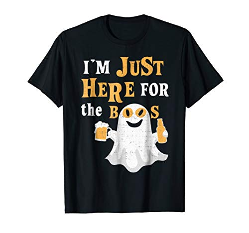 ghost shirt I'm Just Here For Boos Halloween