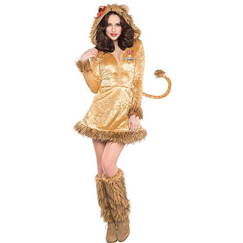 SUIT YOURSELF The Wizard of Oz Cowardly Lion Costume for Adults, Size Extra-Large, Includes a Dress and Leg - Cowardly Badge Lion