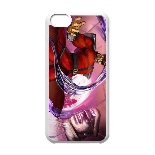 Street Fighter V 18 coque iPhone 5c cellulaire cas coque de téléphone cas blanche couverture de téléphone portable EEECBCAAN02924