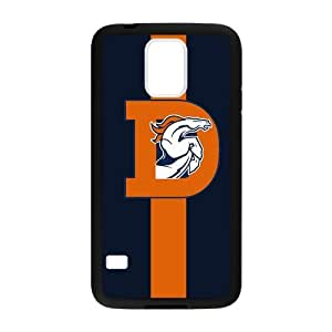 Hoomin Deep Blue Orange Denver Broncos Samsung Galaxy S5 Cell Phone Cases Cover Popular Gifts(Laster Technology)