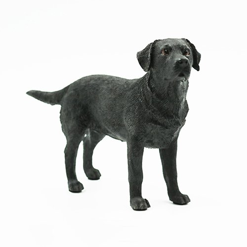 Artgenius Resin Black Labrador Dog Figurine Small,Standing