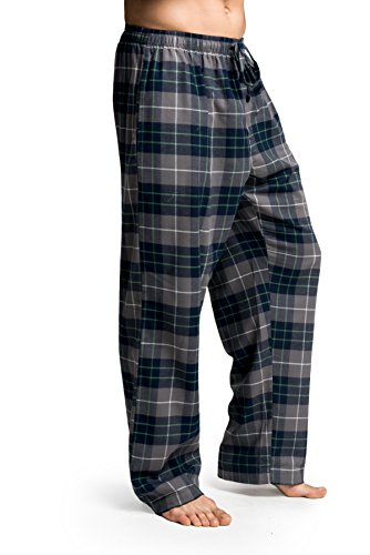 CYZ Men's 100% Cotton Super Soft Flannel Plaid Pajama Pants-F17016-M Soft Flannel Pajamas