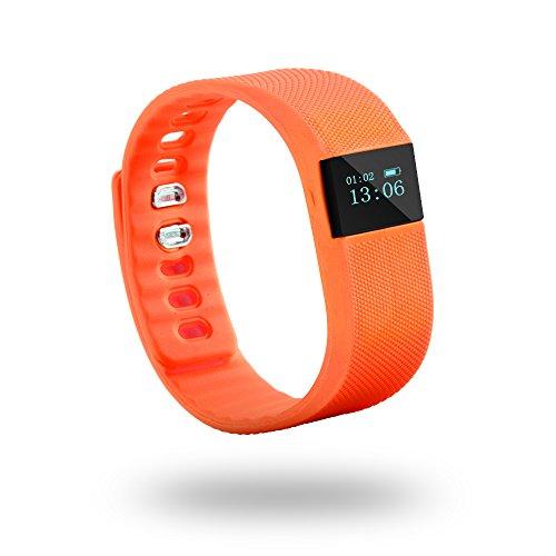 Fitness Tracker LiKee Bluetooth Waterproof Sports Smart Bracelet Health Sleep Monitor Pedometer Step Tracker Activity Wristband for Android IOS