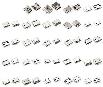MIEMIE 150pcs Multi-Specification Micro USB Connector Pin Charge Female SMT Socket Jack Set