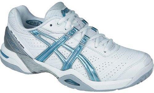 Asics Gel Challenger 7–Blanc-Simili cuir-Chaussures de Tennis (UK7.5, Blanc)
