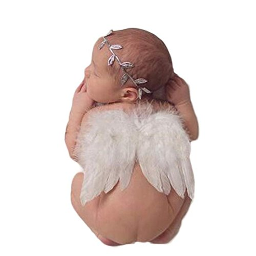 AutumnFall® Baby Angel Feather Wings Wing Set Feather Butterfly Wings Photo Prop (Infant Angel Apparel)