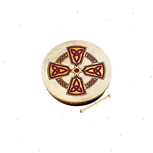 Waltons Bodhrán 18'' (Kilkenny Cross) - Handcrafted Irish Instrument - Crisp & Musical Tone - Hardwood Beater Included w/Purchase by Waltons