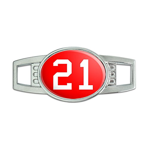 Number 21 Red Shoelace Decoration