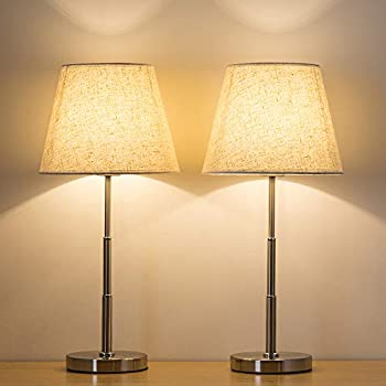 Haitral Modern Table Lamps Set Of 2 Nightstand Lamps