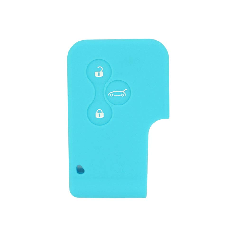 SEGADEN Silicone Cover Protector Case Skin Jacket fit for RENAULT 3 Button Smart Card Remote Key Fob CV2351 White