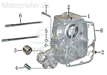 Xfight-Parts Lager Gummi-Metall Ma/ße 10 x 28 x 22mm 4Takt 50//180ccm JSD139QMB AEO-96400-102822 f/ür Daelim Delfino 125