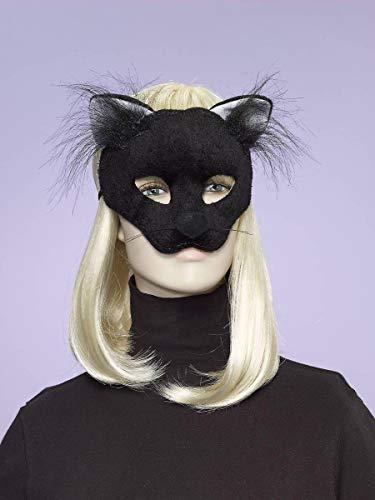 Forum Novelties Women's Plush Cat Mask, Black, One Size -