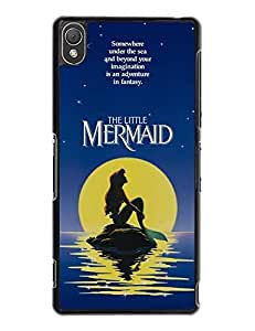 Lovers Gifts Sony Xperia Z3 Cover, Artistic The Little Mermaid Collection [Non-Slip] Ultra Slim Bumper Case for Sony Xperia Z3 4276179M168250855