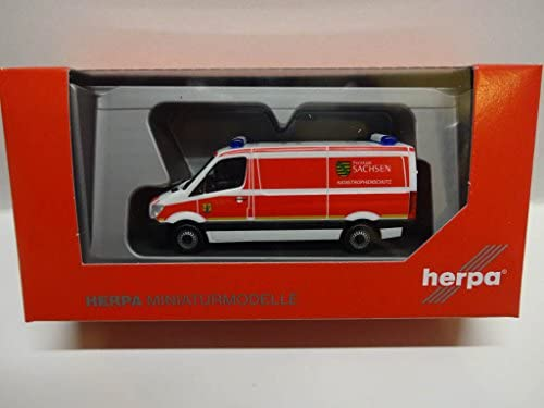 Herpa 93354 Mercedes-Benz Sprinter Box Katastrophenschutz Freistaat Sachsen Model Set