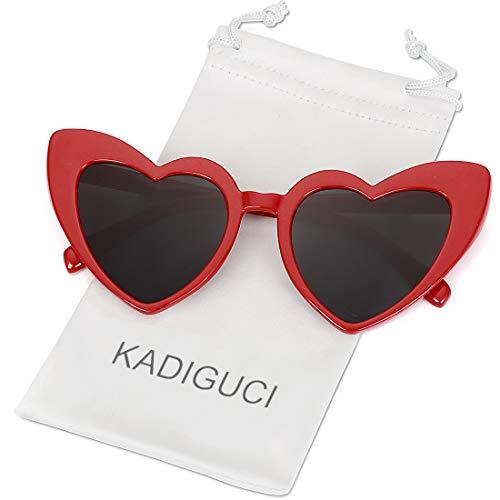 Heart-Shaped Sunglasses Women Vintga Black Pink Red Heart Shape Sun Glasses (C5)